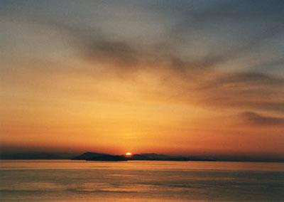 sunset from Lummi Island