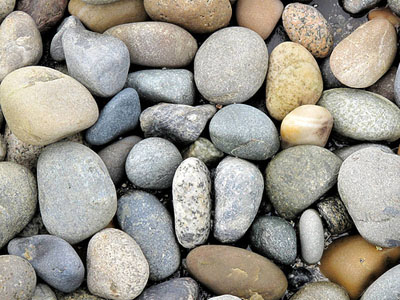 beach stones on Lummi ~ photo by Kevin Jones