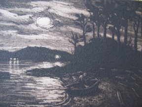 Thomas Wood - Lummi Island Cove - etching