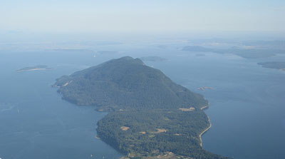 south end of Lummi Island looking toward Seattle