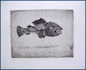 The Great Sculpin, etching by Thomas Wood