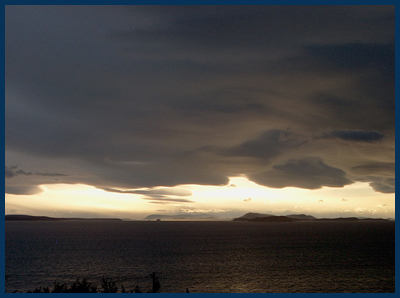the storm view from Lummi Island
