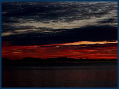 The sunset view from Lummi Island
