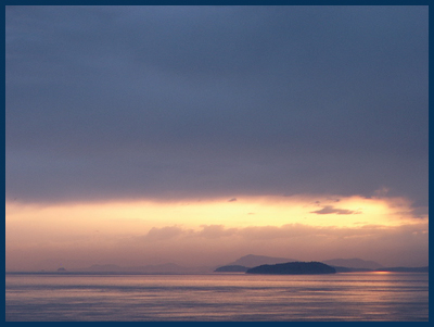 sunset from Lummi Island