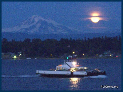 Mt Baker moonrise - Whatcom Chief
